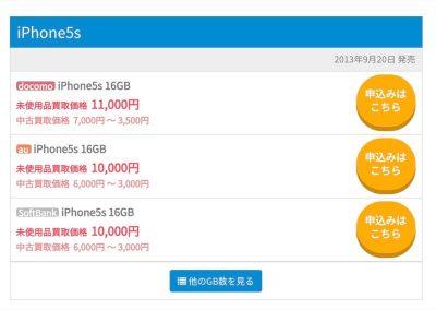iPhoneの買取価格
