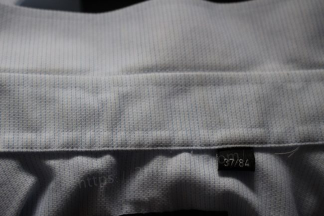 洗い上がりのシャツ